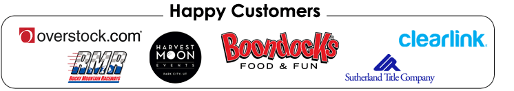 bouncin bins corporate party companies logos