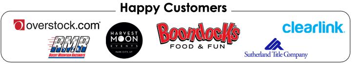 bouncin bins corporate party companies logos