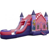 (A1) Princess Castle Bounce Slide combo (Wet or Dry)