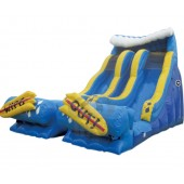 24ft Dual Lane Wipe Out Dry Slide