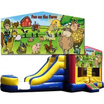 Fun on the Farm Bounce Slide combo (Wet or Dry)