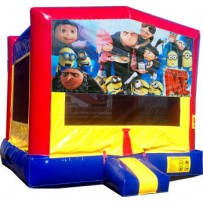 (C) Despicable Me Blue or Pink Bounce House