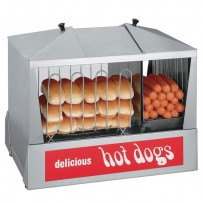 Hot Dog Steamer 130 Dog 120V 1000 Watt