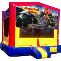 Monster Truck Banner Bounce House