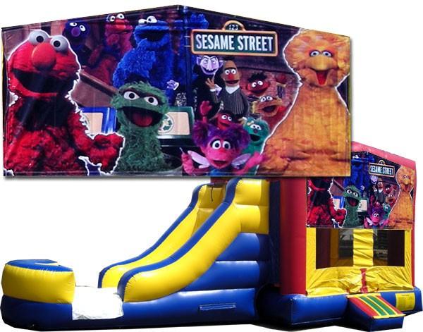 Sesame Street Bounce Slide combo (Wet or Dry)
