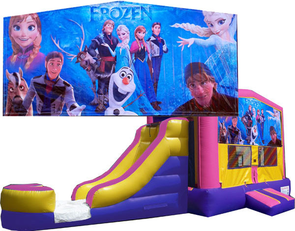 Frozen Pink or Blue Bounce Slide combo (Wet or Dry)