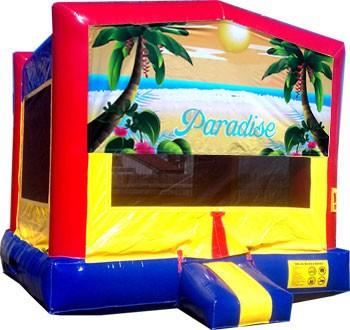 Paradise Banner Bounce House