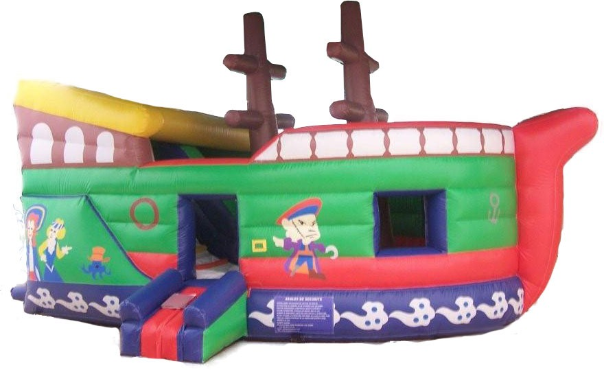 (B) 10ft Pirate Slide/ Jump Combo (Dry only)