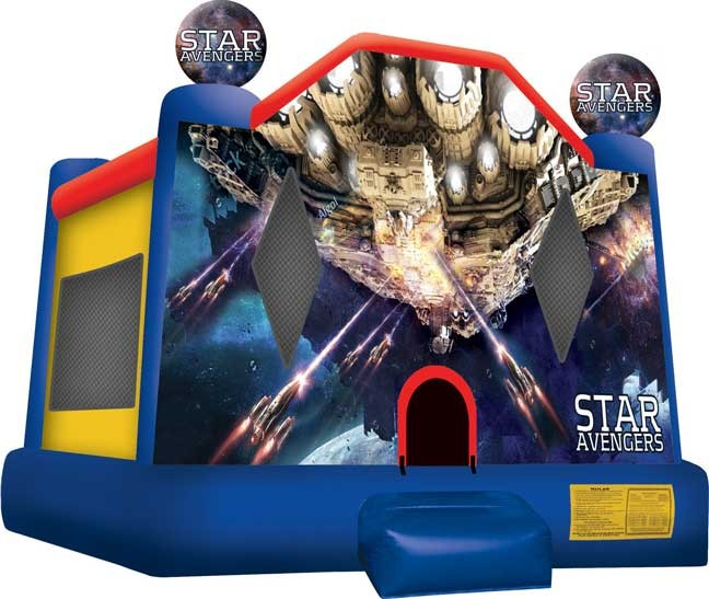 (B) Star Avengers Bounce House Large