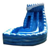 18ft Dual Lane Tower of Terror Wave Wet-Dry Slide