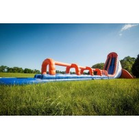 42ft Dual Death Drop Slip N Dip Water Slide