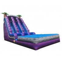 20ft Double Lane Paradise Wet/Dry Slide