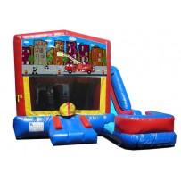 Fire Truck 7n1 Bounce Slide combo (Wet or Dry)