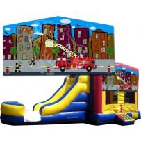 Fire Truck Bounce Slide combo (Wet or Dry)