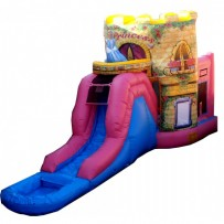 (B) Deluxe Princess Castle Bounce Slide combo (Wet or Dry)